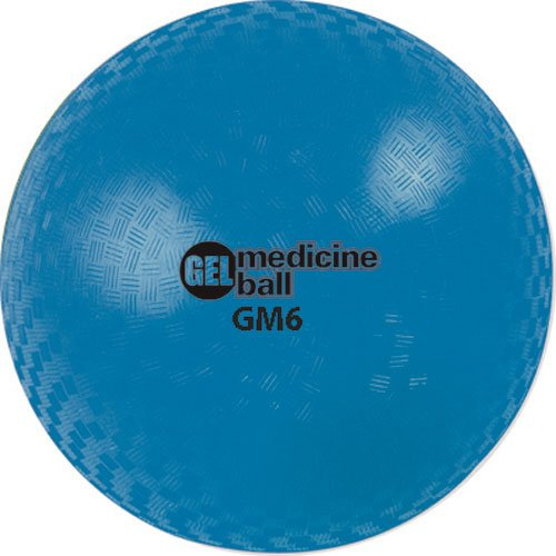 Champion Sports Gel Filled Medicine Ball (Blue 4lbs)
