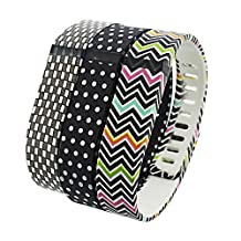 DingTool 3PCS Replacement Bands with Clasps Wristband Bracelet Accessories for Fitbit Flex Sport Armband