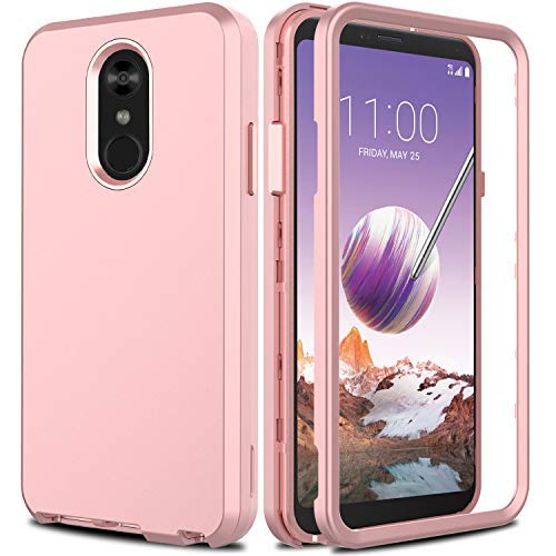 size 40 774a1 caeb0 AMENQ LG Stylo 4 Case, LG Stylo 4 Plus Case 3 in 1 Hybrid Heavy Duty  Shockproof with Rugged Hard PC and TPU Bumper Protective Armor Phone Cover  for LG ...