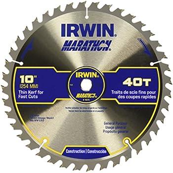IRWIN Tools MARATHON Carbide Table / Miter Circular Saw Blade, 10-Inch, 40T (24070)
