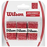 Wilson Advantage Grip Tape Overgrip (Pack of 3) Red red Size:Standard by Wilson