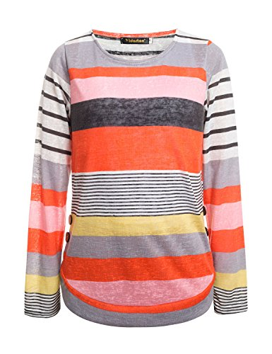 Yidarton Damen Langarm T-Shirt Rundhals Ausschnitt Lose Bluse Hemd Pullover  Oversize Sweatshirt Oberteil Tops ... 33dcc00282