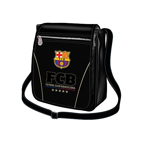 Karactermania FC Barcelona Borsa Messenger, 19 cm, Nero