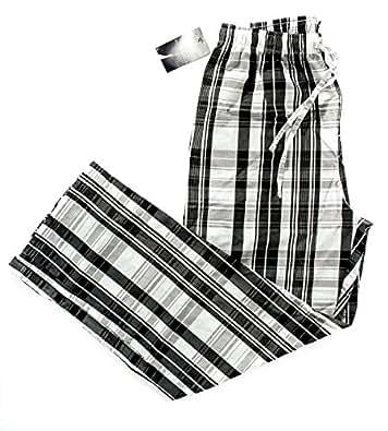 Polo Ralph Lauren Men's Cotton Plaid Sleepwear Pants in Black / White Size Med