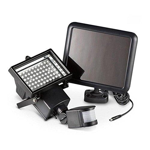 OUKANING 60 LED Solarleuchte mit Bewegungsmelder Außen Leuchte Solarstrahler Sensorlicht