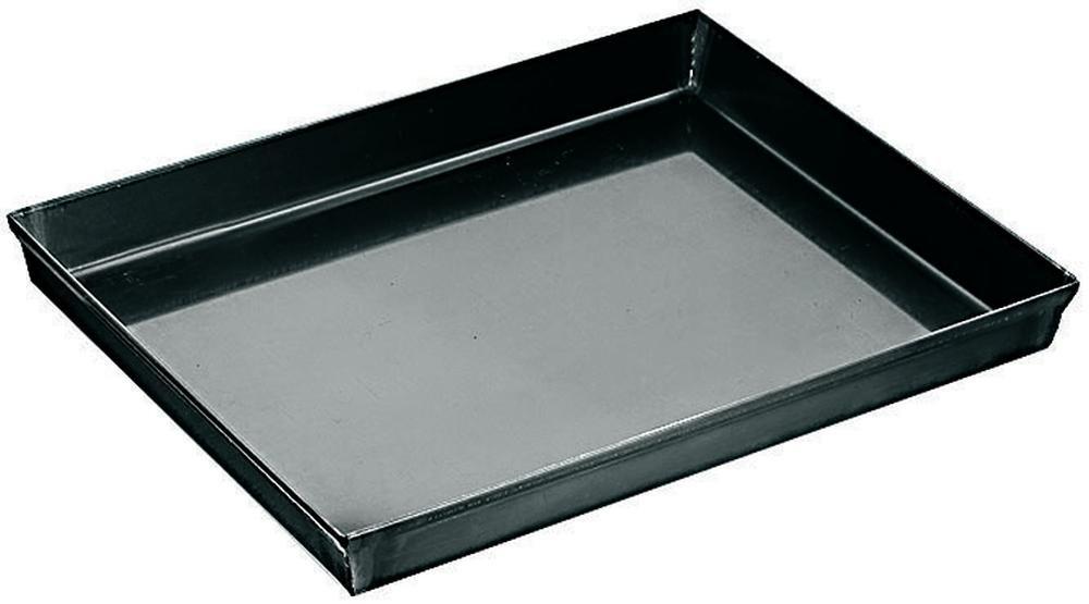 APS Pizzaform 50 x 35 cm, H: 2,5 cm Blaublech, Rand umgelegt Nicht spülmaschinengeeignet Materialstärke 0,7 mm