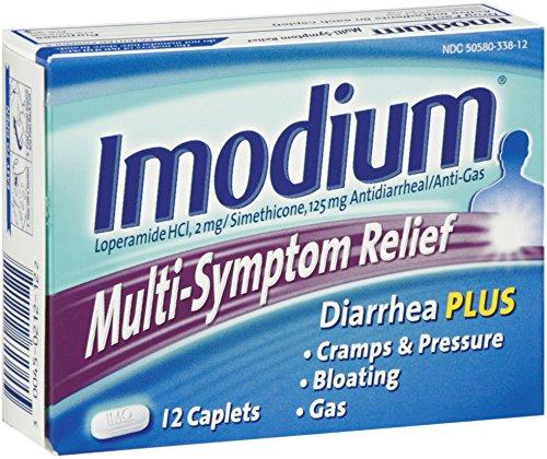 Imodium Multi-Symptom Relief Caplets 12 ea (2 Pack)