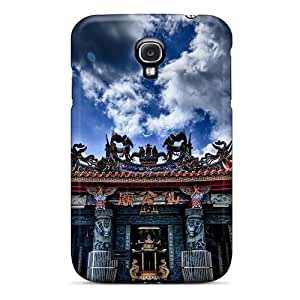 Galaxy S4 Case Cover - Slim Fit Tpu Protector Shock Absorbent Case (temple Entrance In Myanmar)