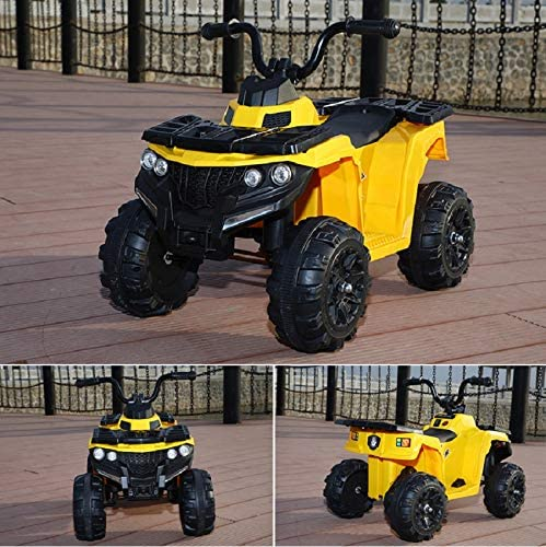 Toyas Kinderquad Kinderelektroquad Kinder Elektro Fahrzeug Quad Auto Elektrofahrzeug Elektroauto Elektroquad ATV 3201 Gelb