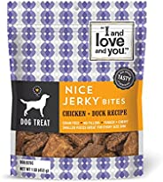"""I and love and you"" Nice Jerky Bites - Grain Free Dog Treats (Variety o"