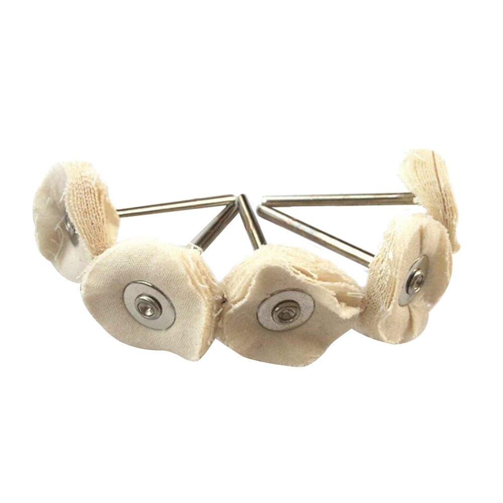 haobase Lot de 12/Disque de polissage en coton 2.35/mm tige Convient outils Dremel Rotary