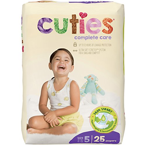 Cuties Complete Care Baby Diapers – Size 5 (25 Count)