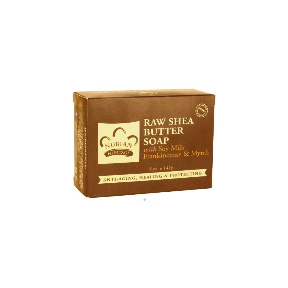 Nubian Heritage Bar Soap Raw Shea Butter   5 Oz, 2 Pack
