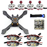 QWinOut DIY Accesory Kit 210mm X Shape Frame RS2306 Brushless Motor 30A ESC with PDB 5V BEC for FPV Racing Drone Quadcopter Multicopter with Flycolor MINI ESC
