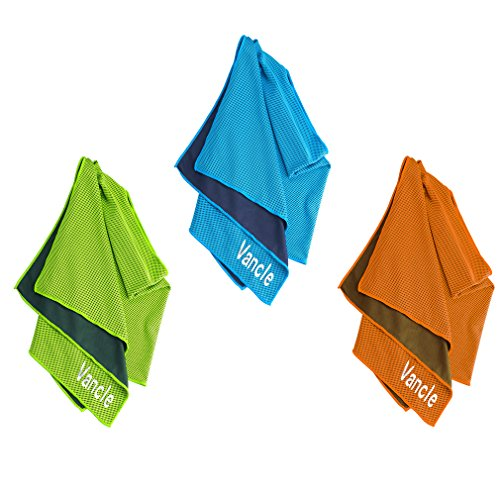 Evaporative Cooling Towel, Vancle Snap Cooling Towels for Sports and Fitness in Hot Environment (Orange)