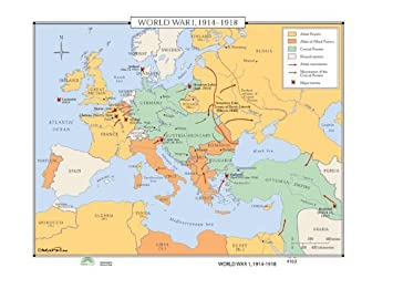 Amazon.com : Universal Map World History Wall Maps - World ... on maps of women in world war one, maps of us 9th army in wwii, maps of middle east during ww1, maps south pacific 1944, maps of stages of ww1,