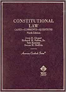Amazon Com Constitutional Law Cases Comments And Questions Ninth Edition American Casebooks