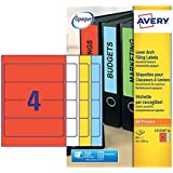 Avery Dennison - Etiquetas para carpetas archivadoras tamaño 200x60mm - Pack de 80 uds.
