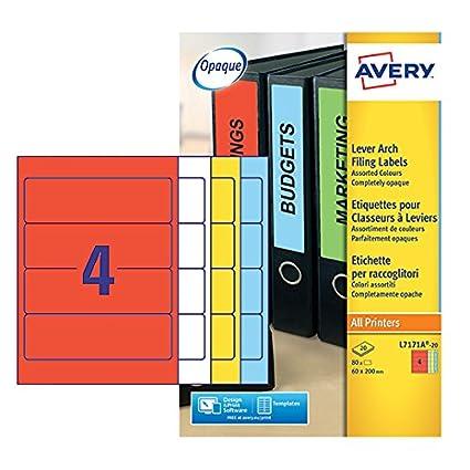 Avery Dennison - Etiquetas para carpetas archivadoras tamaño ...