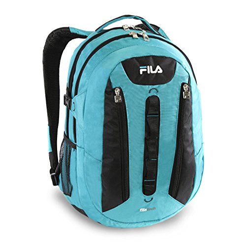 Fila Vertex Tablet and Laptop School Backpack, Teal, One Siz