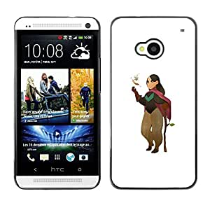 Be Good Phone Accessory // Dura Cáscara cubierta Protectora Caso Carcasa Funda de Protección para HTC One M7 // Cartoon Character Girl Nature Tree Love