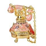 QIFU-Hand Painted Enameled Telephone Decorative