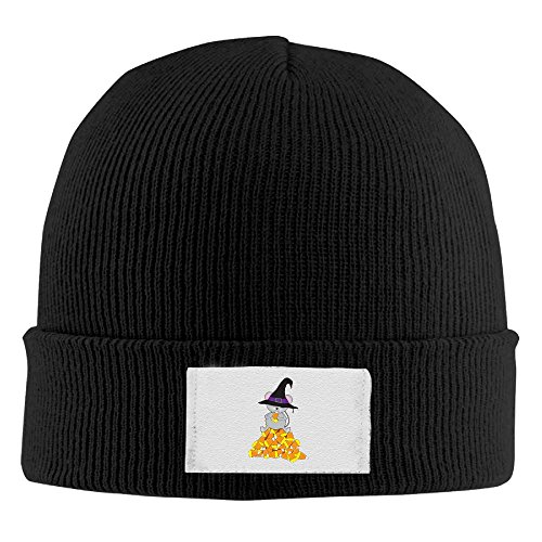 NO4LRM Men Women Halloween Mouse Eat Candy Warm Stretchy Knit Wool Beanie Hat Solid Daily Skull Cap Outdoor Winter -