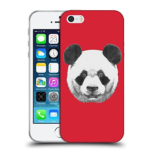 GoGoMobile Coque de Protection TPU Silicone Case pour // Q05300601 Panda Alizarine // Apple iPhone 5 5S 5G SE