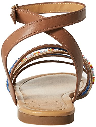 Flat Jack Hannah Cognac Rogers Women's Sandal qqTt1
