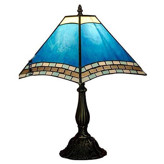 Tiffany Cielo Azul Vidrio Dormitorio Mesa Luz Mediterráneo Estudio ...