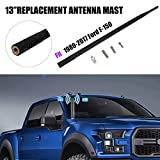 "Black Rubber 13"" Antenna / Short Custom Flexible Antenna Mast for Ford F-150"