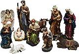 Northlight 11-Piece Holy Family and Three Kings Inspirational Religious Christmas Nativity Set