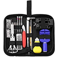 Luxerlife Watches Repair Tool Kit, Professional 147 in 1 Watch Case Opener Repair Tools Watch Spring Pin Bars Watch Band…