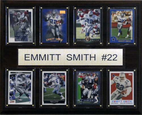 (NFL Emmitt Smith Dallas Cowboys 8 Card Plaque)