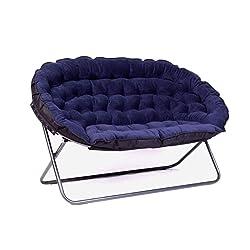European Lazy Sofa Double Fabric Sofa Folding Sofa Chair Home Leisure Chair Adjustable Floor Chair