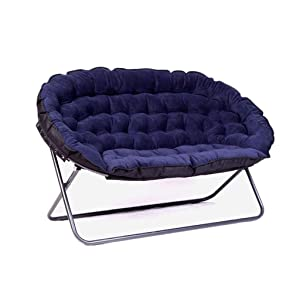 European Lazy Sofa Double Fabric Sofa Folding Sofa Chair Home Leisure Chair Adjustable Floor Chair