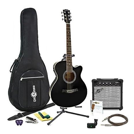 Guitarra Electroacústica Single Cutaway + Pack Completo de Gear4music: Amazon.es: Instrumentos musicales
