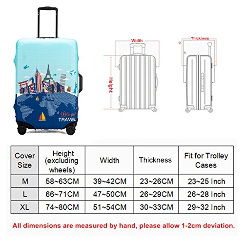 Love Avengers Travel Luggage Cover Suitcase Protector Fits 26-28 Inch Washable Baggage Covers