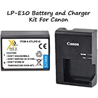 Canon LC-E10 Genuine Li-Ion Battery Charger + LP-E10 Genuine Li-Ion Battery For Cameras... EOS Rebel T3, EOS 1100D, EOS Kiss X50