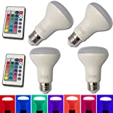 heat lamp control - E26 8W RGB Magic LED Colors Changing Light Bulb,4 Pack,16 Different Multi-color LED Lamp with IR Remote Control for Home Decoration,Bar,Party,KTV,Holiday,Christmas Mood Lighting,Chener