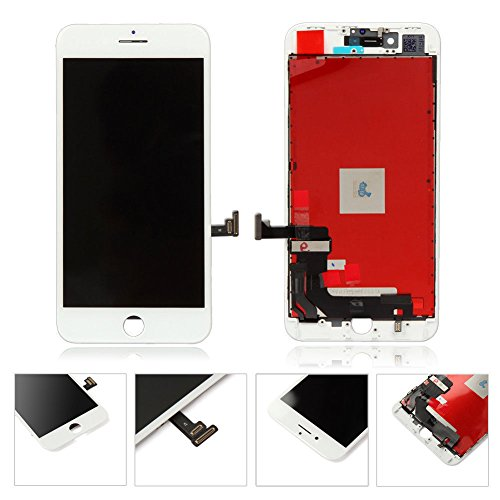 White Iphone 8 plus 5.5 Inch LCD Screen Replacement Digitizer display touch screen Full set Assembly