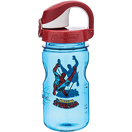 Spider Man Water Bottle - Nalgene Kids OTF Spiderman Bottle, Blue, 12 oz