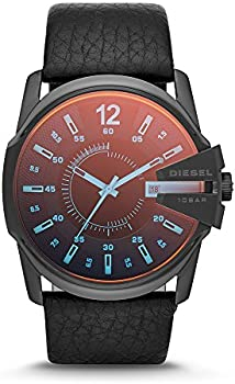 Diesel DZ1657 Master Chief Black Ip Leather Men's Watch
