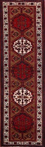 One-of-A-Kind Meshkin Tribal Handmade 3x11 Brown Wool Vintage Persian Oriental Runner Rug (10' 9