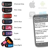 Ultimate Emergency Medical Identity Wristband ID Bracelet Smartphone Readable inc iPhone. Allows Paramedics / Medical Staff to connect to Your FREE You-ID.Me Medical Profile. Men Women Ladies Child. (