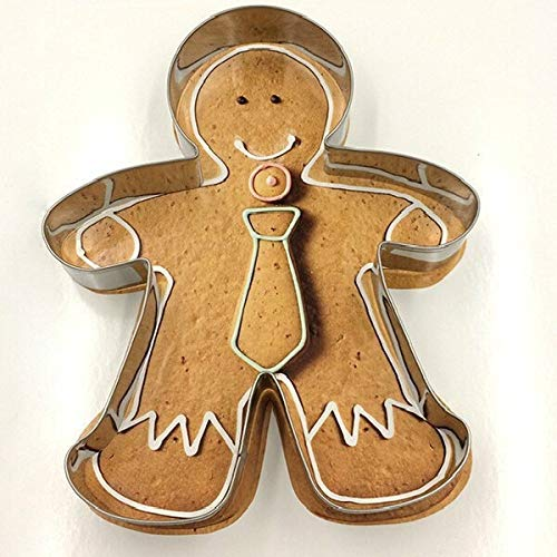 Creative Design Metal Alloy Gingerbread Men Shaped Holiday Baking Biscuit Cookie Cutter Mold Mould 3D Molds Decorating Tools