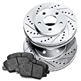 Power Sport [FRONT] PowerSport Drilled Slotted Brake Roto...