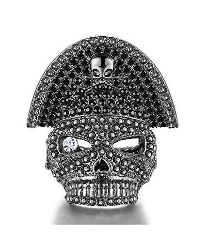 Men's Alloy Personalized Skull Pirates Ring Womens Pirate