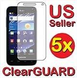 5x Samsung Captivate Glide Gidim SGH-i927 Premium Clear LCD Screen Protector Cover Guard Shield Protective Film Kit