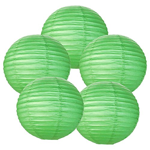 Just-Artifacts-10-Green-Paper-Lanterns-Set-of-5-Click-for-more-ChineseJapanese-Paper-Lantern-Colors-Sizes